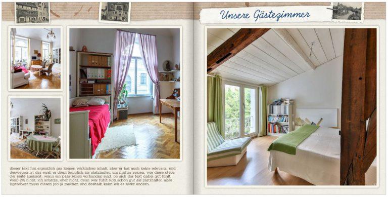 Beispiel einer Fotobuch-Seite